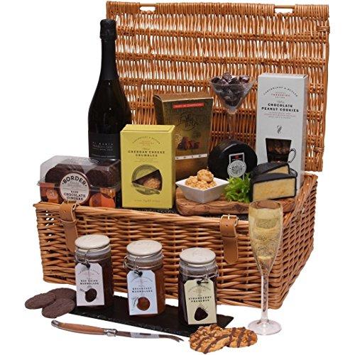 Clearwater Hampers Gourmet Choice Hamper - Luxury Hamper amp; Gift Basket - Christmas, Birthday - Prosecco Wine amp; Food Hamper