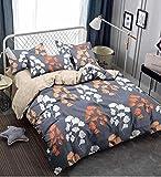 Magnetic Shadow Cotton Queen Size AC Comforter Set Duvet with Bedsheet (Multicolour)