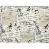 Tela de tapicería, tela de tapicería, tela de tapicería, tela, tela de la cortina, tela - musique - algodón elegante impresión con nota musical