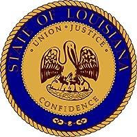 Rotondo Adesivo per auto Louisiana USA Sticker Adesivo Per Auto