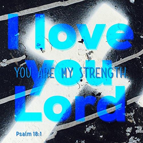 Bibel Zitat Belfast Christian Zitat Aufkleber Bibel Vers, I Love You Herr You Are My Kraft Psalm 18: 1Gott Jesus Christus Wand Art Geschenk Geschenk