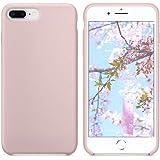 iPhone 8 Plus Hülle, iPhone 7 Plus Hülle, SURPHY Silikon Schutzschale vor Stürzen und Stößen Silikon Handyhülle für iPhone 8 Plus(2017) iPhone 7 Plus (2016) Schutzhülle 5.5 Zoll (Sandrosa)