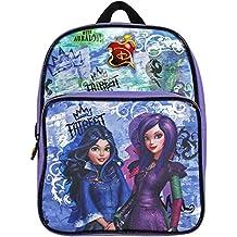 Descendants 13734 - Pequeña mochila de niña con gran compartimiento de la serie animada Disney Descendientes, morado