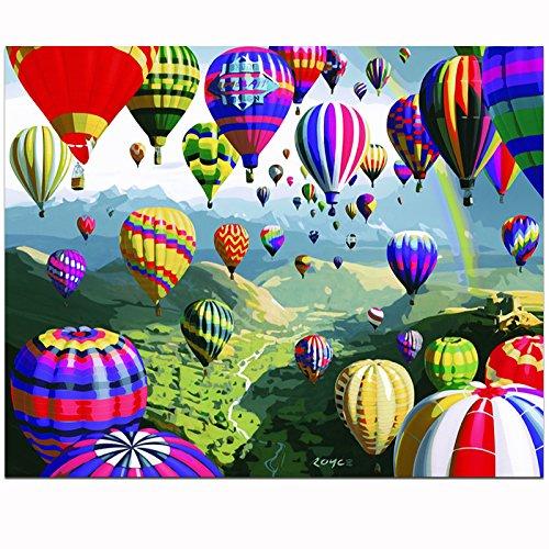 en nach Zahlen Kits Frameless-Heißluft -Ballon 16*20 inch ()