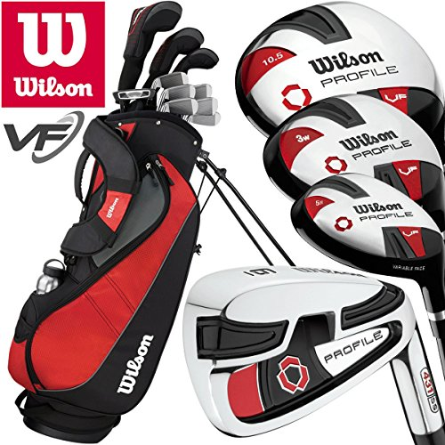 """NEW 2018"" WILSON PROSTAFF PROFILE VF MENS COMPLETE GOLF SET +GOLF STAND BAG"