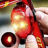 Aglaia - Lumière arrière LED pour vélo 40 lumens Phare arrière adapté à Tous Les vélos pour Une sécurité optimale (Red)