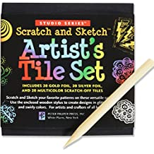 Studio Series Artist's Tiles: Scratch & Sketch (60 Pack)