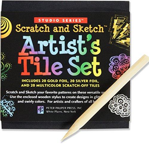 Studio Series Artist's Tiles: Scratch & Sketch par Peter Pauper Press