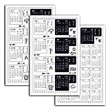 Toga D.I.Y with STR102 Planche DE 18 Stickers onglets pour Agenda 2017/2018 Papier Noir/Blanc 3 x 3 x 0,1 cm...