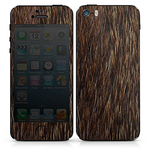 Apple iPhone SE Case Skin Sticker aus Vinyl-Folie Aufkleber Fell Tier Bär DesignSkins® glänzend