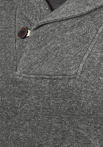 BLEND Janosch Herren Sweatshirt Pullover Sweater mit Schalkragen aus hochwertiger Baumwollmischung Meliert Pewter Mix (70817)