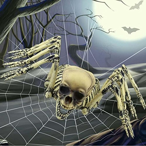 Halloween-Stützen Haunted Haus-Dekoration-Plattform Spinnen-Skeleton Ogre Hooded Skeleton (Halloween Masken Animierte)