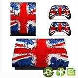 Xbox One X Skin Sticker, Morbuy Designfolie Vinyl-Folie Aufkleber für Konsole + 2 Controller Aufkleber Schutzfolie Set (Britische Flagge drucken)