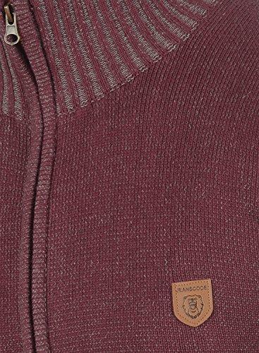 INDICODE Andy Herren Strickjacke Cardigan mit Stehkragen aus hochwertiger Baumwollmischung Wine (227)