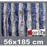 Moritz Cortina de tejido tipo chenille, mosquitera, 56x 185cm, 14hilos