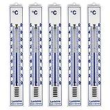 5 Stück Set Analog Innen , Aussen , Garten Thermometer . Kunststoff weiss