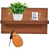 Anikaa Volt Engineered Wood Key Holder Stand/Wall Hooks Stand/Plain Key Holder for Home Office/Wall Mounted Key Holder/Key Ho
