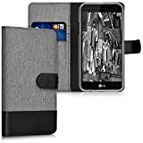 kwmobile LG K4 Dual (2017) Hülle - Kunstleder Wallet Case für LG K4 Dual (2017) mit Kartenfächern und Stand
