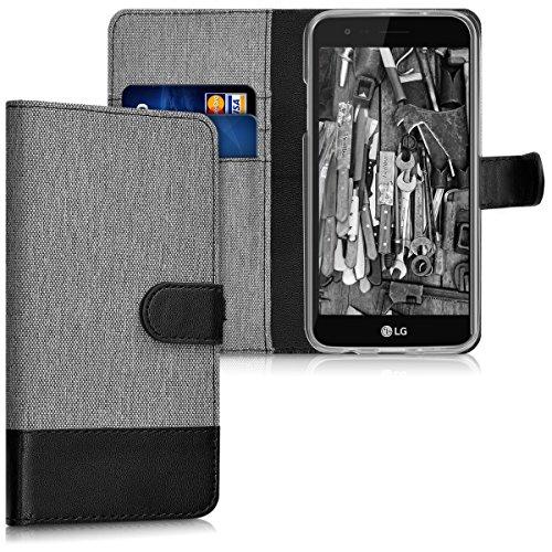 kwmobile LG K4 Dual (2017) Hülle - Kunstleder Wallet Case für LG K4 Dual (2017) mit Kartenfächern & Stand