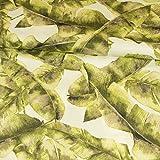 Stoffe Werning Dekostoff Blättermuster grün Canvasstoff