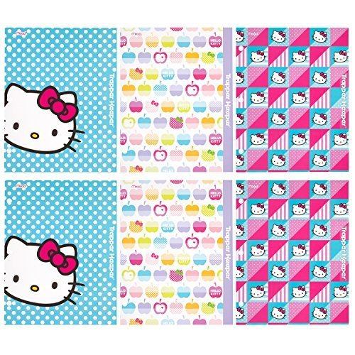 trapper-keeper-hello-kitty-2-pocket-folders-by-mead-assorted-designs-6-pack-73485-by-mead