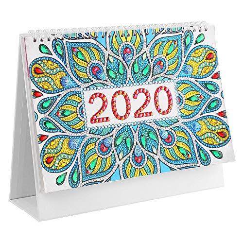 DIY Diamond Painting Cover 2020 - Calendario de escritorio, diseño de mandala