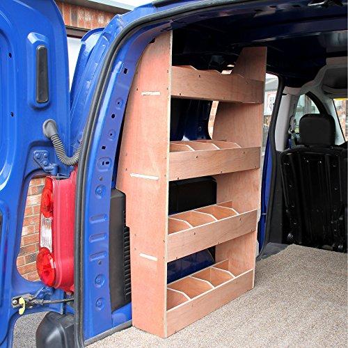 Monster Racking Peugeot Partner II Lieferwagen Werkstattwagen Fahrzeugausbau Sortiersystem Werkzeugaufbewahrung Regal Holzregal Regalsystem Regalgestell Werkstattregal 116cm H x 67.5cm W x 28.5cm D
