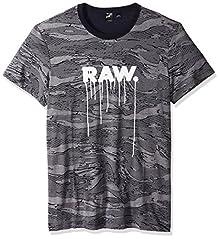 eea19595cf G-Star Raw Men s Daefon Regular All Over Print Tee Short Sleeve