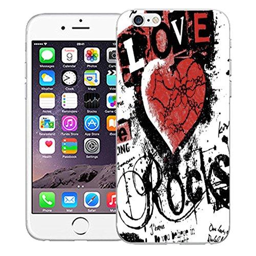 "Nouveau iPhone 6 4.7"" inch clip on Dur Coque couverture case cover Pare-chocs - mexican owls Motif avec Stylet love rocks red"