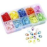 Marcadores Puntada 150 Piezas Marcadores de Puntos de Bloqueo Clip de Puntos de Crochet Con Compartimento Caja para hacer pun