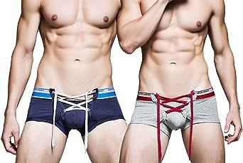 AiJump Slip Briefs Intimo Uomo in Cotone Comodo Elasticizzato Short No-Fly Trunk Underwear