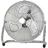 Ø45cm 140 Watt Vollmetall Windmaschine Bodenventilator Klimagerät Luftkühler Ventilator (140Watt, Luftkühler, Chrom Metall Ventilator)
