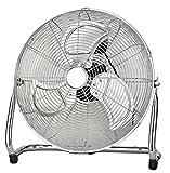 Ø45cm Vollmetall Windmaschine Bodenventilator Klimagerät Luftkühler Ventilator (100Watt, Luftkühler, Chrom Metall Ventilator) -