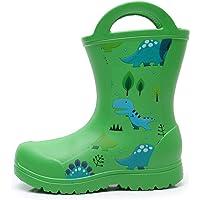 Apakowa Unisexe Enfants Garçons Filles Léger Facile-on Poignées Bottes de Pluie Chaussure en Motifs Amusants et Couleurs…
