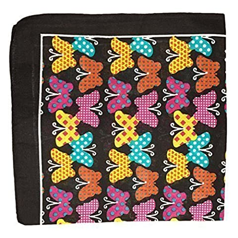 New 2015 Graphic Colourful Design Bandanas Head Neck Scarfs (Black Butterflies)