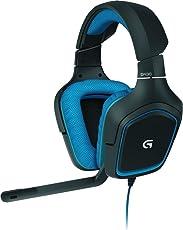Logitech G430 Gaming Kopfhörer (Dolby 7.1 Surround Sound für PC) blau