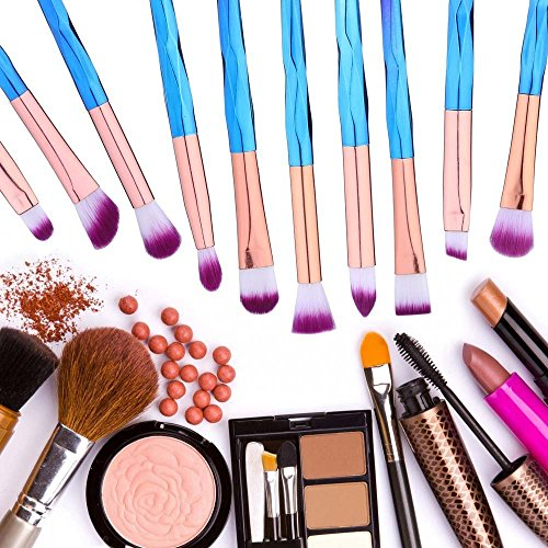 Eye brush set 10 pcs Eyeshadow Eyeliner Lip Brush Powder Foundation Tool CosmeticBrushes Kit