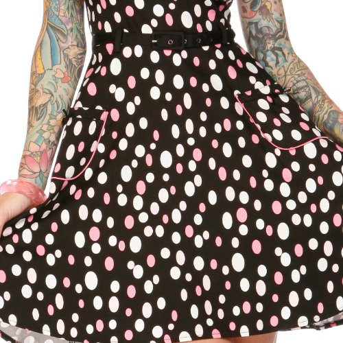 Voodoo Vixen Kleid DOTS DRA2101 black-pink-white M -