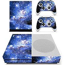Morbuy Xbox One S Skin Vinly Pegatinas Protective Consola Sticker Decal + 2 Controlador Skins Set (Sky Blue)