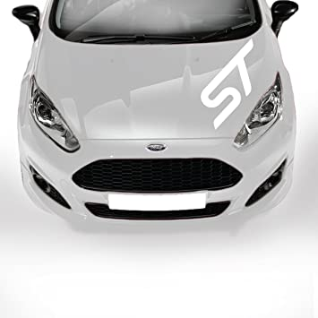Ford ST Bonnet Racing Stickers Stripes Decal GraphicsTuning Car - Graphics for car bonnets