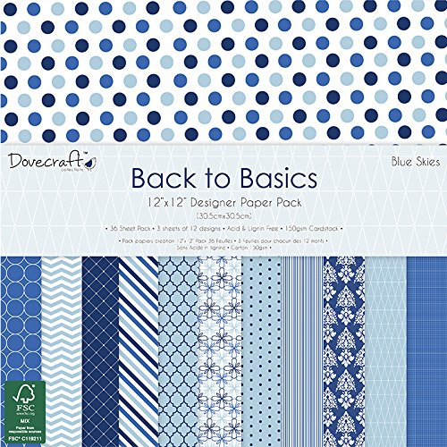 dovecraft-back-to-basics-blue-skies-pad-papier-12x12-multicolore