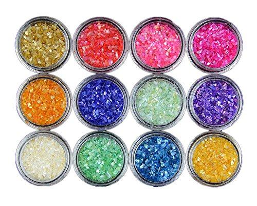 Petite lumière colorée Pierres cassées Nail Art Accessoires 12 Couleur
