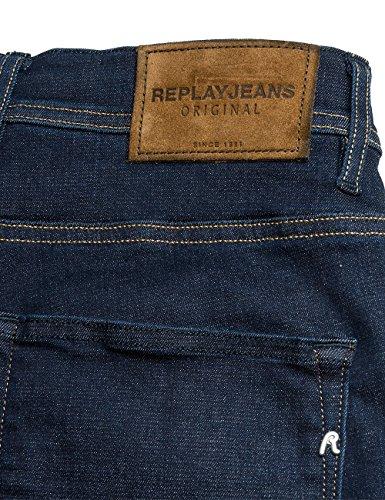 Replay Herren Shorts Blau (Dark Blue Denim 7)