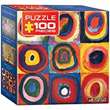 Eurographics Kandinsky Study Squares Mini Puzzle (100 Pieces) by Eurographics