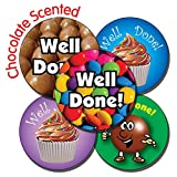 Primary Teaching Services 37 mm 'Mixed Well Done' Chocolate Scented Sticker (Pack of 35)
