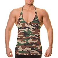 Alivebody Uomo Palestra senza maniche Tank Top T-shirt Bodybuilding Sport Vest