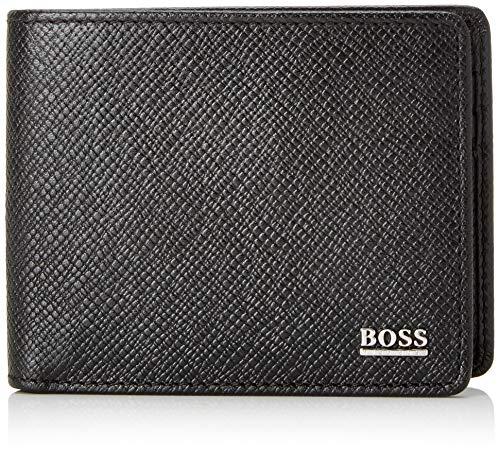 BOSS Herren Signature_6 Cc Geldbörse, Schwarz, 1.5x8x11 cm
