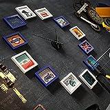 LongYu Pared de la Foto Relojes Grandes portafolio Marcos de Cuadros Juegos de Pared Marco Decorativo Pared de Fotos de Dibujos Animados 7 Pulgadas (Color : White Blue)
