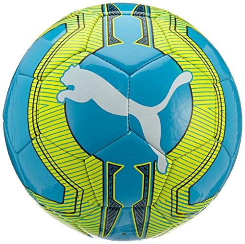 Pallone da calcio PUMA ultima 6,3 Trainer MS, Atomic Blue/safety yellow/white, 5, 082563 02