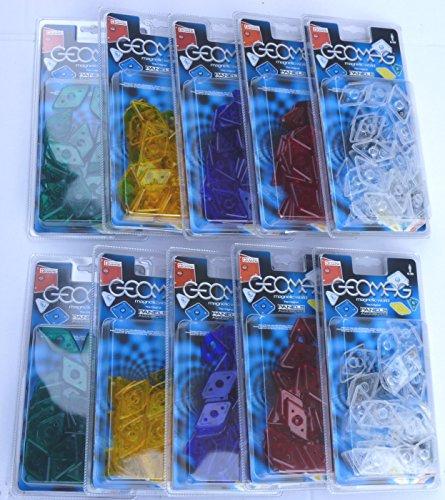 Geomag 400 Rauten in 5 Farben je 80 Stück von einer Farbe Geomag Raute Diamond Panel Panels